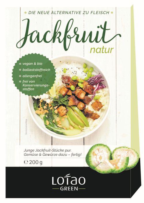 Lotao Green Bio-Jackfruit Fleischersatz natur, vegan